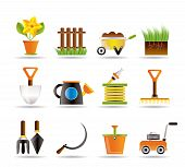 image of grass-cutter  - Garden and gardening tools icons  - JPG