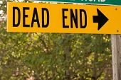 Dead End street sign