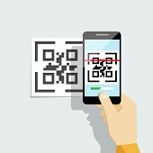 picture of qr codes  - Capture QR code on mobile phone - JPG