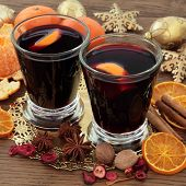 image of christmas spices  - Christmas mulled wine with spices - JPG