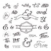 foto of ampersand  - Collection of handwritten catchwords and ampersands - JPG