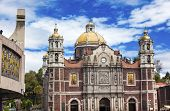 Постер, плакат: New And Old Basilica Shrine Of Guadalupe Christmas Day Mexico City Mexico