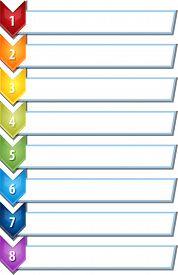 pic of chevron  - blank business strategy concept infographic chevron list diagram illustration eight 8 steps - JPG