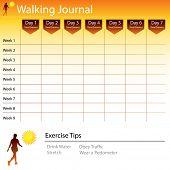An image of a walking journal chart.