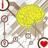 brain illustration background vector
