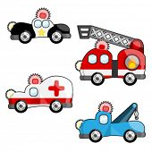 emergency vehicles vector