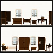 vector furniture icon set