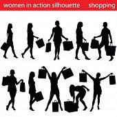 high quality shopping women silhouette