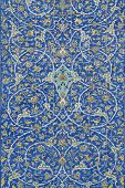 Traditional Persian Ceramic Tiles In Isfahan Iran