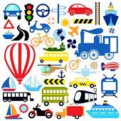 vehicles icon set