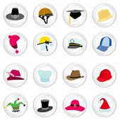 hat with button set