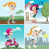 action girl design set