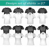 Twenty-six design shirt set. Vector.