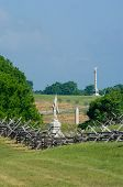Battlefield Monuments And Cannon poster
