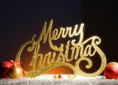 stock photo of merry christmas text  - Christmas - JPG