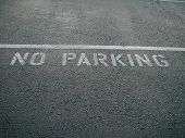 No Parking Sign On Blacktop
