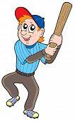 Cute baseball player - vector illustration.