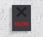 Cyber Bullying Abusement Harassment Trolling poster