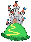Fairy tale castle - vector illustration.