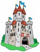 Castelo medieval - ilustração vetorial.