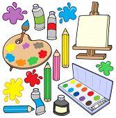 Fine arts collection 1 - vector illustration.