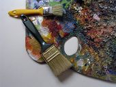 Palette Of Painting