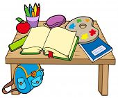 School table 2 on white background - vector illustration.
