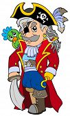 stock photo of peg-leg  - Cartoon noble corsair  - JPG