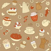 seamless pattern with dessert