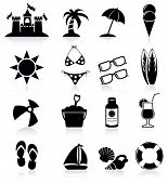 Beach icon.