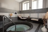 jacuzzi bath in spa center