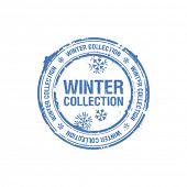 carimbo de coleção de Inverno de vetor
