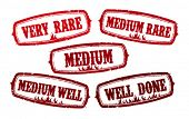 set of beef stakes readiness rubber stamps