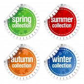 Set of stickers for seasonal collection