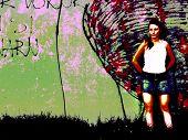 Fatal Lady By The Graffiti Wall