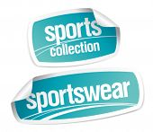 Sportswear collection stickers set