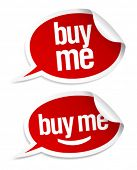 Buy me stickers set in form of speech bubbles.