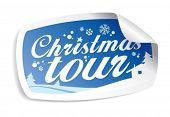 Christmas tour vector sticker.