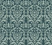 Seamless damask wallpaper background.