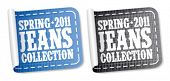 Spring 2011 jeans collection stickers set