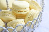 image of tea party  - Lemon macarons - JPG