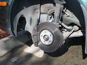 Car Disc Brakes Close Up