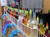 Colorful Shaved Ice Bottles