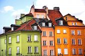 Colorful building, Warsaw old town