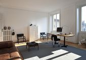 nice apartment refitted, studio room with furniture retro