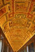 Golden Ceiling At Musei Vaticani