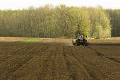 Farm Field Being Tilled