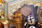 Mosaics Designs Nizamuddin Complex Mosque Interior New Delhi India