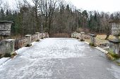 The Bridge Through The River The Slav In Pavlovsk Park