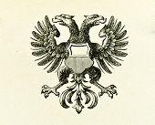 Wappen der freien Stadt lübeck. Illustration von Alwin Zschiesche, veröffentlicht am